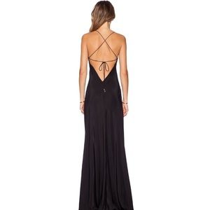 Amanda Uprichard Cross Back Maxi Dress Silk